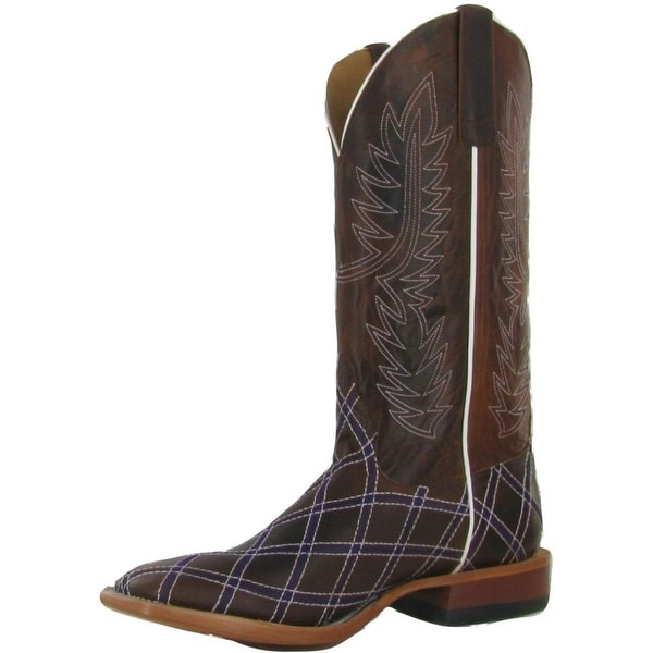 Horse Power Western Boots Mens Billy Goat Square Chocolate
