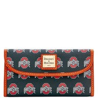 Dooney & Bourke NCAA Ohio State Continental Clutch Wallet (Introduced by Dooney & Bourke at $128 in Jul 2015) - Black