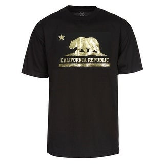 Gravity Trading Short-Sleeve Gold Men's California Republic T-Shirt
