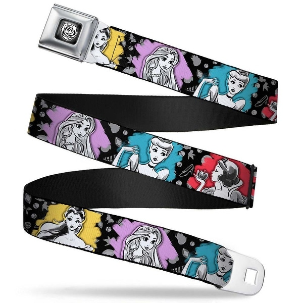 Princess Rose Full Color Grays White Black Princess Sketch Poses Typography Seatbelt Belt