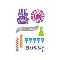 Little B Cutting Die Birthday Wishes