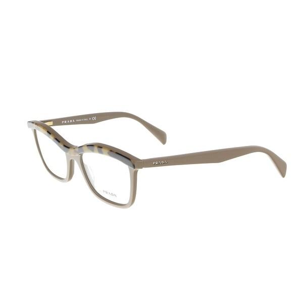 cc2a6f98a07c Shop Prada PR 17PV MA61O154 Taupe Cat Eye Optical Frames - 54-18-140 ...