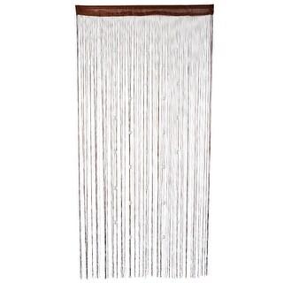 Polyester Door Window String Bead Curtain Tassel Chocolate Color 100 x 200cm - MultiColor