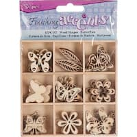 Wooden Shapes 45/Pkg-Butterfly