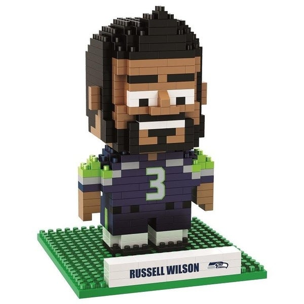 Seattle Seahawks Wilson Russell #3 3D NFL BRXLZ Bricks Puzzle Name Player