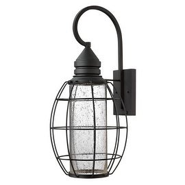 "Hinkley Lighting 2258 24"" Height 1 Light Dark Sky Lantern Outdoor Wall Sconce from the New Castle Collection - Black"
