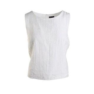 Vince Camuto Womens Sunrise Textured Sleeveless Blouse - XL