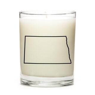 State Outline Candle, Premium Soy Wax, North-Dakota, Lemon