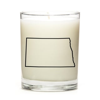 State Outline Soy Wax Candle, North-Dakota State, Fresh Linen