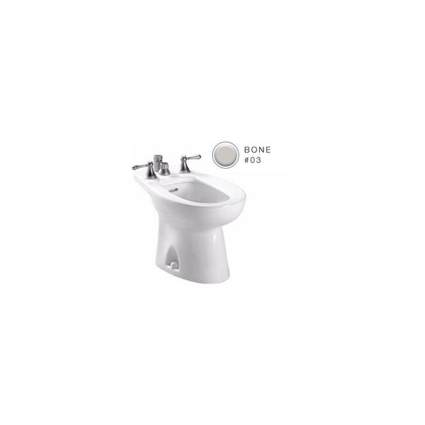 Toto BT500B Piedmont Floor Mounted Porcelain Vertical Bidet with Four Hole Faucet Drilling - Faucet Not Included