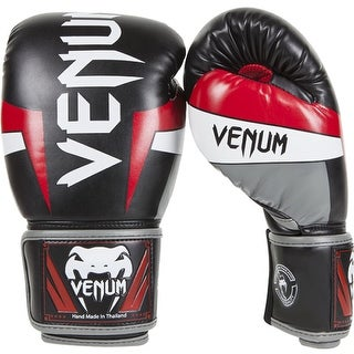 Venum Elite Boxing Gloves - Black/Red/Gray