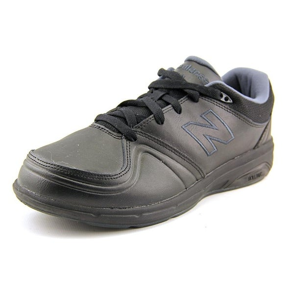 New Balance WW813 Women 2E Round Toe Leather Black Walking Shoe