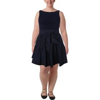 Lauren Ralph Lauren Womens Petites Party Dress Tie Sleeveless