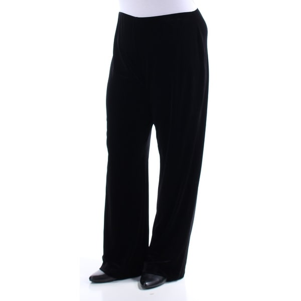 Shop ALFANI Womens Black Velvet Pants Size  L - Free Shipping On Orders  Over  45 - Overstock.com - 25995078 1658932bd