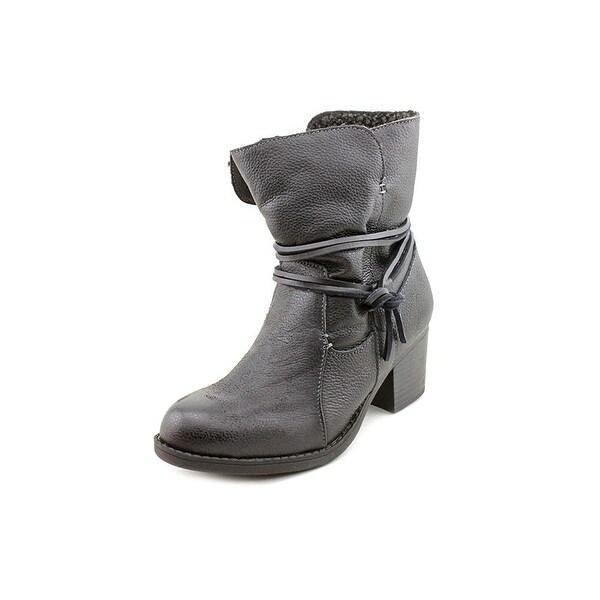 Sporto Womens Lori Leather Almond Toe Ankle Fashion Boots