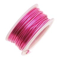 Artistic Wire, Silver Plated Craft Wire 18 Gauge Thick, 4 Yard Spool, Fuchsia Hot Pink