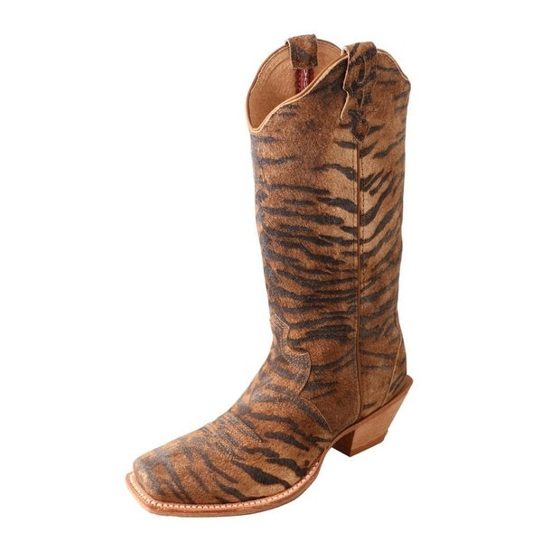 Twisted X Western Boots Womens Steppin Out Square Tiger