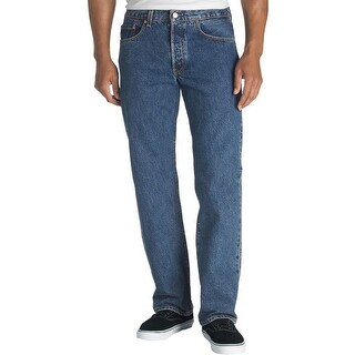 Levi's Mens 501 Straight Leg Jeans Original Fit Medium Wash