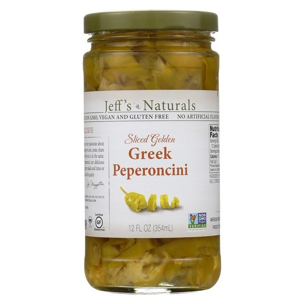 Jeff's Natural Jeff's Natural Greek Pepperoncini - Greek Pepperoncini - Case of 6 - 12 oz.