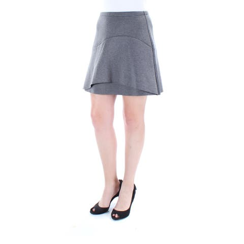 KIIND OF Womens Gray Above The Knee A-Line Skirt Size: S