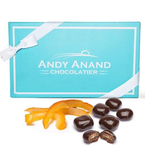 Andy Anand's Vegan Dark Chocolate Covered Orange Peel 1lbs