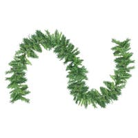 "9' x 10"" Mixed 2-Tone Pine Artificial Christmas Garland - Unlit - Green"