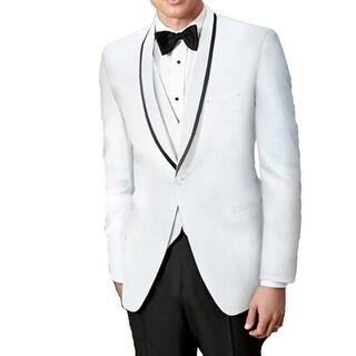 Ike Behar White Waiverly Slim Fit Tuxedo