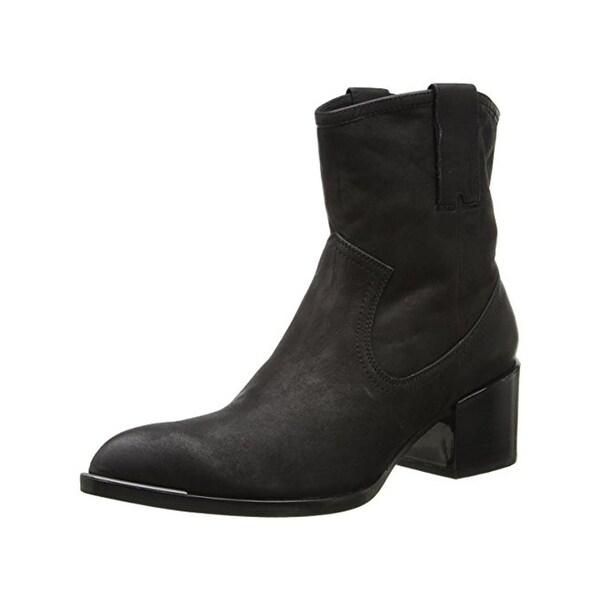 Rachel Zoe Womens Lori Cowboy, Western Boots Vintage Suede Ankle - 8.5 medium (b,m)