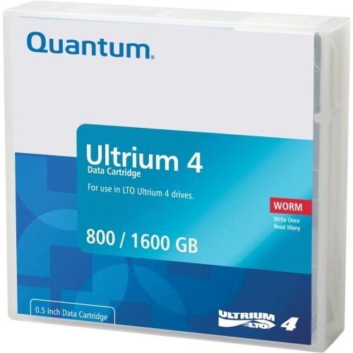 """""""Quantum MR-L4MQN-02 Quantum LTO Ultrium 4 WORM Tape Cartridge - LTO Ultrium LTO-4 - 800GB (Native) / 1600GB (Compressed)"""""""