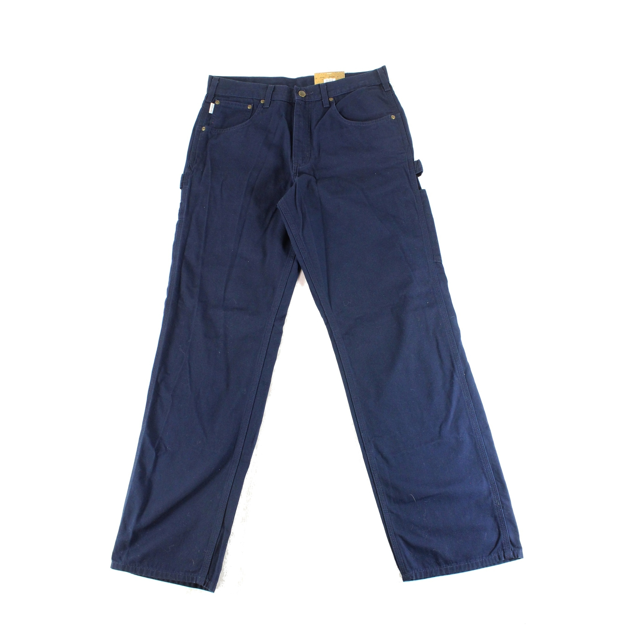f5b8b341b7 Shop Carhartt Blue Mens Size 32X32 Loose Fit Canvas Carpenter Jeans - Free  Shipping On Orders Over $45 - Overstock - 27315968