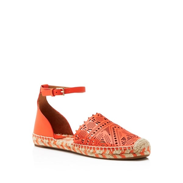 Tory Burch Roselle Ankle Strap Espadrille Flat Sandals Shoes - 8 b(m)