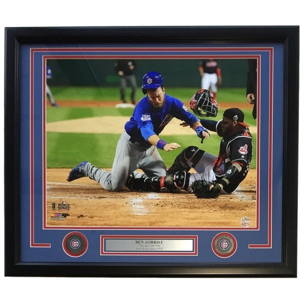 buy online 96904 80f56 Shop Ben Zobrist Framed 16x20 Chicago Cubs 2016 World Series ...