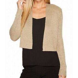 Calvin Klein NEW Gold Knit Women's Size Medium M Bolero Shrug Jacket
