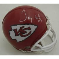 Tyreek Hill Autographed Kansas City Chiefs Mini Helmet JSA