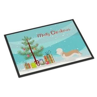 Carolines Treasures BB8474MAT Dandie Dinmont Terrier Christmas Indoor or Outdoor Mat - 18 x 27 in.