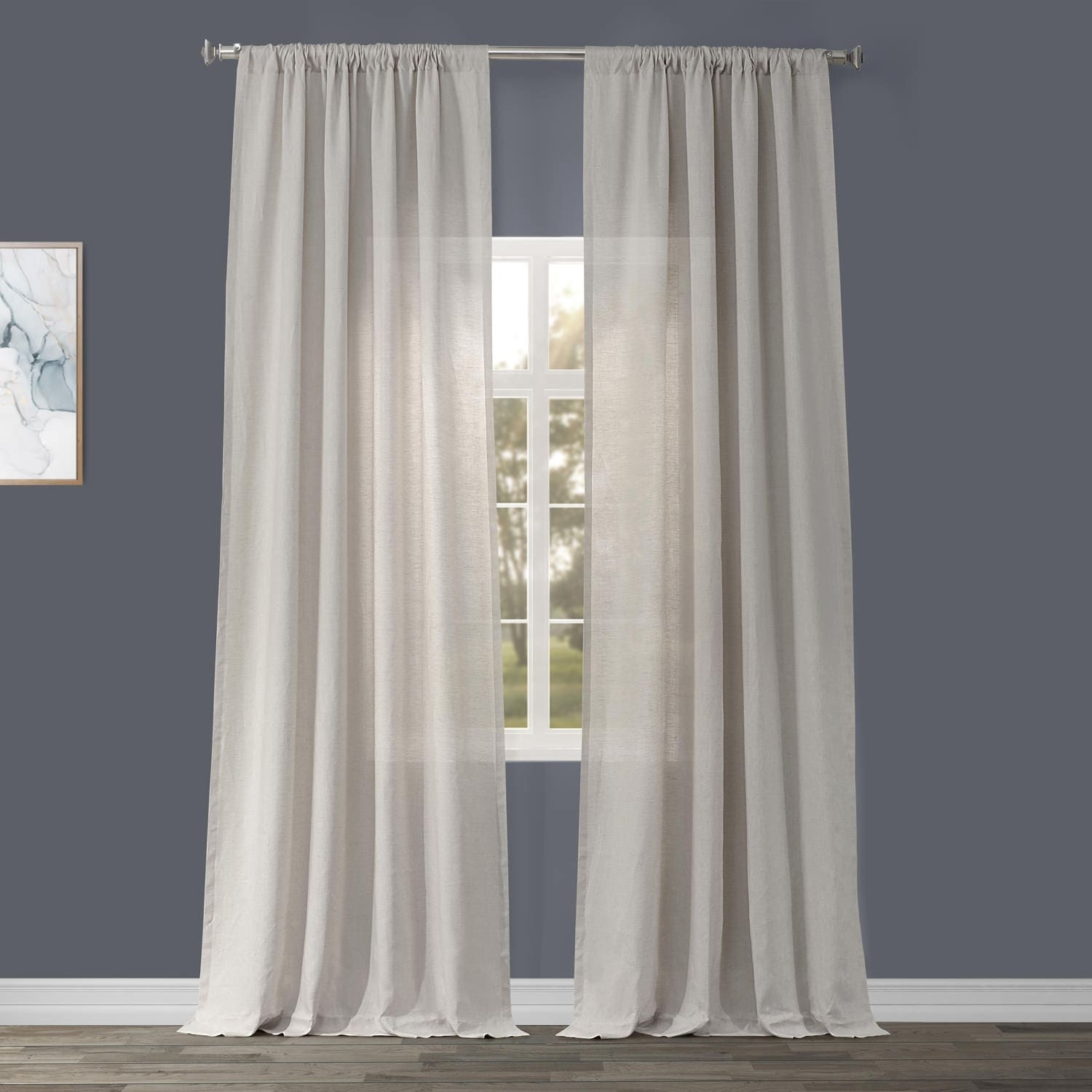 Exclusive Fabrics Signature French Linen Curtain Panel On Sale Overstock 6828620