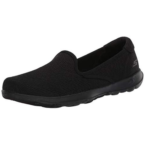 Skechers Women's GO Walk LITE-136019 Loafer Flat, Black, 7.5 Medium US