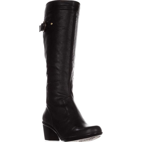 naturalizer Eliane Knee-High Buckle Boots, Black - 6.5 us / 37 eu