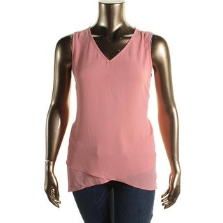 Karen Kane Womens Chiffon Hi-Low Tank Top
