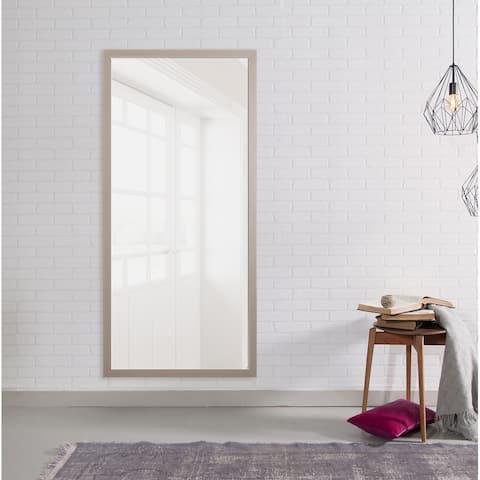 Modern Matte Gray Mirror