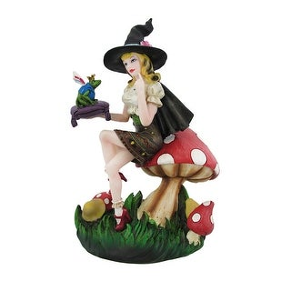 Fantastic Fairy Witch and Frog Prince Statue