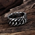 Silver Plated Stainless Steel Ring - Thumbnail 2