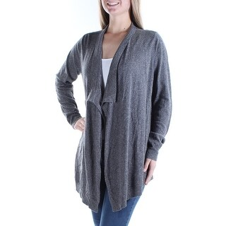 EILEEN FISHER $218 Womens New 1741 Gray Long Sleeve Open Cardigan Top M B+B