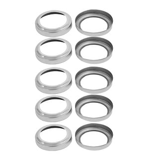 3.46-inch Outer Dia 2.48-inch Post Ladder Hand Rail Plate Covers 10pcs