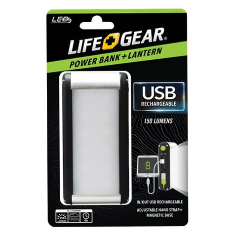 Life + Gear 41-3941 USB Rechargeable With Power Bank, 150 Lumen