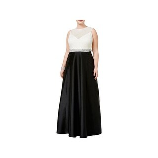 Adrianna Papell Womens Formal Dress Sequined Colorblock