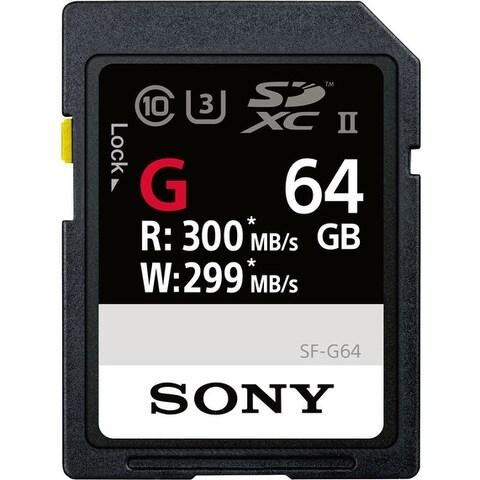 Sony 64GB UHS-II SD Card, max R300/W299 - Black