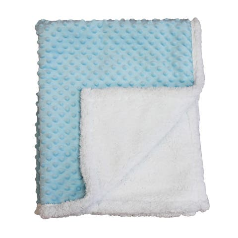 Popcorn Sherpa Baby Blanket