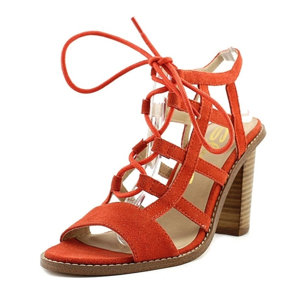 Sbicca Sanni Women Open Toe Leather Orange Sandals