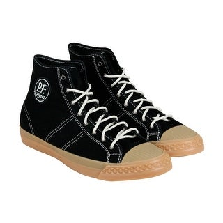 PF Flyers Rambler Mens Black Canvas High Top Lace Up Sneakers Shoes
